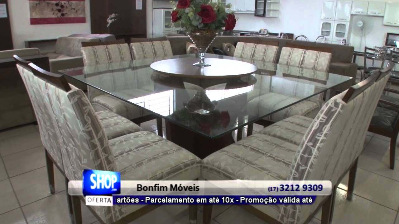 Sala De Jantar Na Atlantida Moveis ~ MESAS EM RIO PRETO  BONFIM MÓVEIS  S 25  YouTube