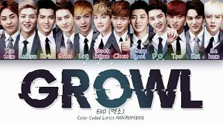 EXO 엑소 'Growl' 으르렁 | Color Coded Lyrics HAN|ROM|ENG