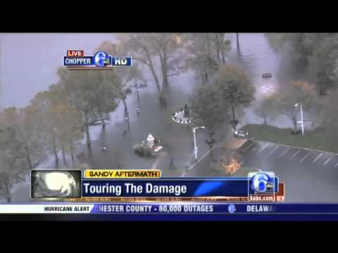Chopper 6 HD over flooding in Bristol, Pa    Video   6abc com