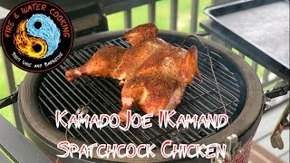 Spatchcock Chicken on the Kamado Joe using the IKamand Temperature Controller