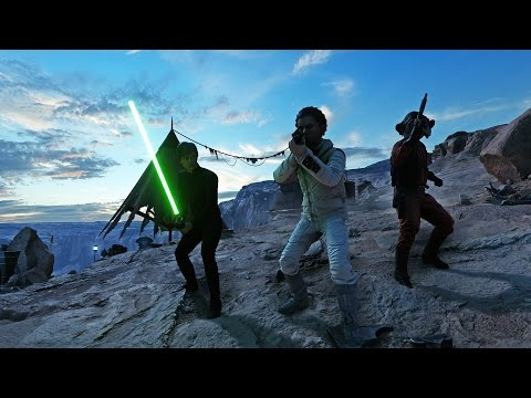 Star Wars Battlefront Luke defeats Darth Vader Boba Fett and Emperor
