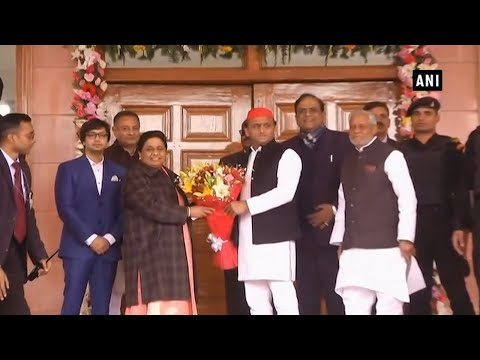 Akhilesh Yadav meets Mayawati on her 63rd birthday