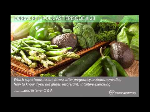Podcast Episode # 28 - Superfoods, Fitness After Pregnancy, Autoimmune Diet And Intuitive Exercise