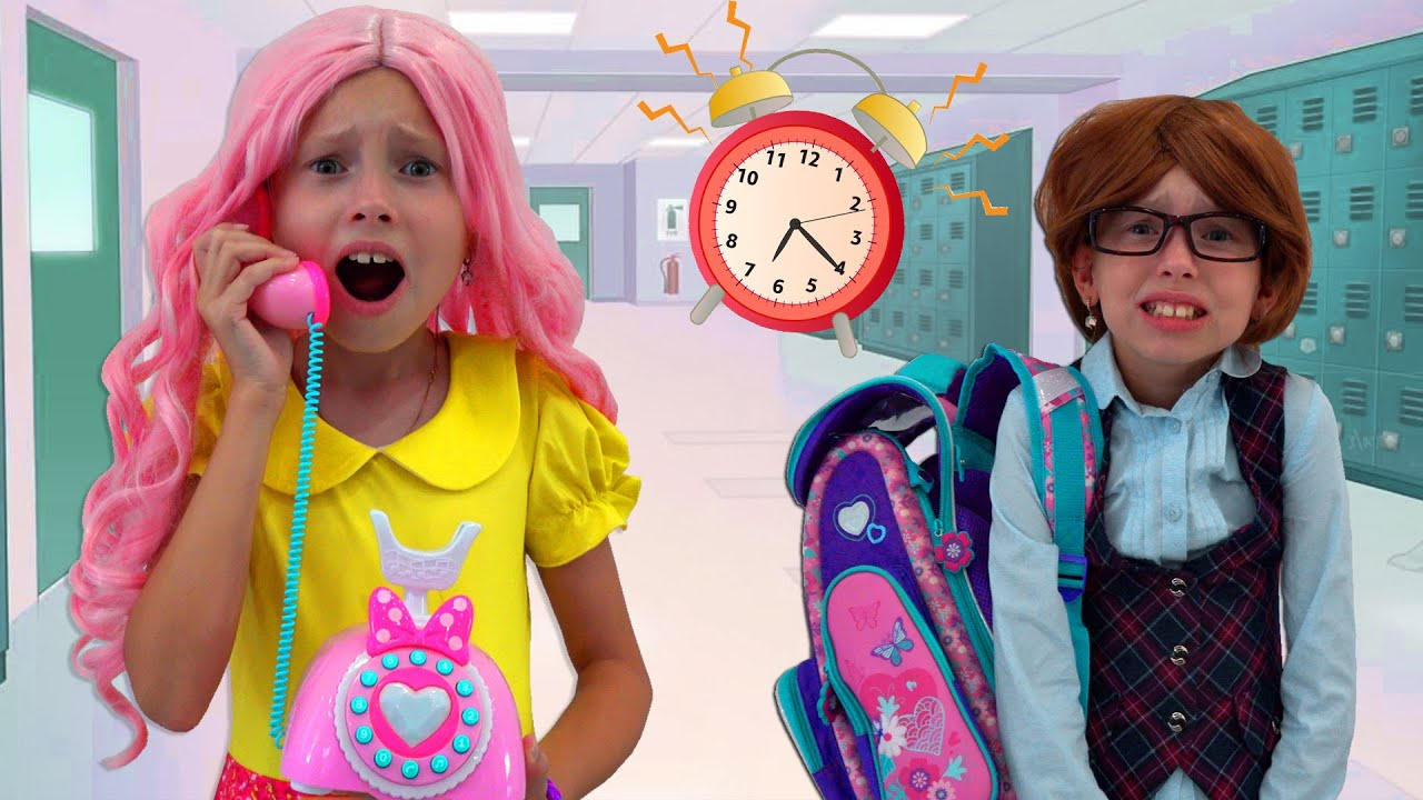 Stacy Hurry to school -her unusual day with morning routing