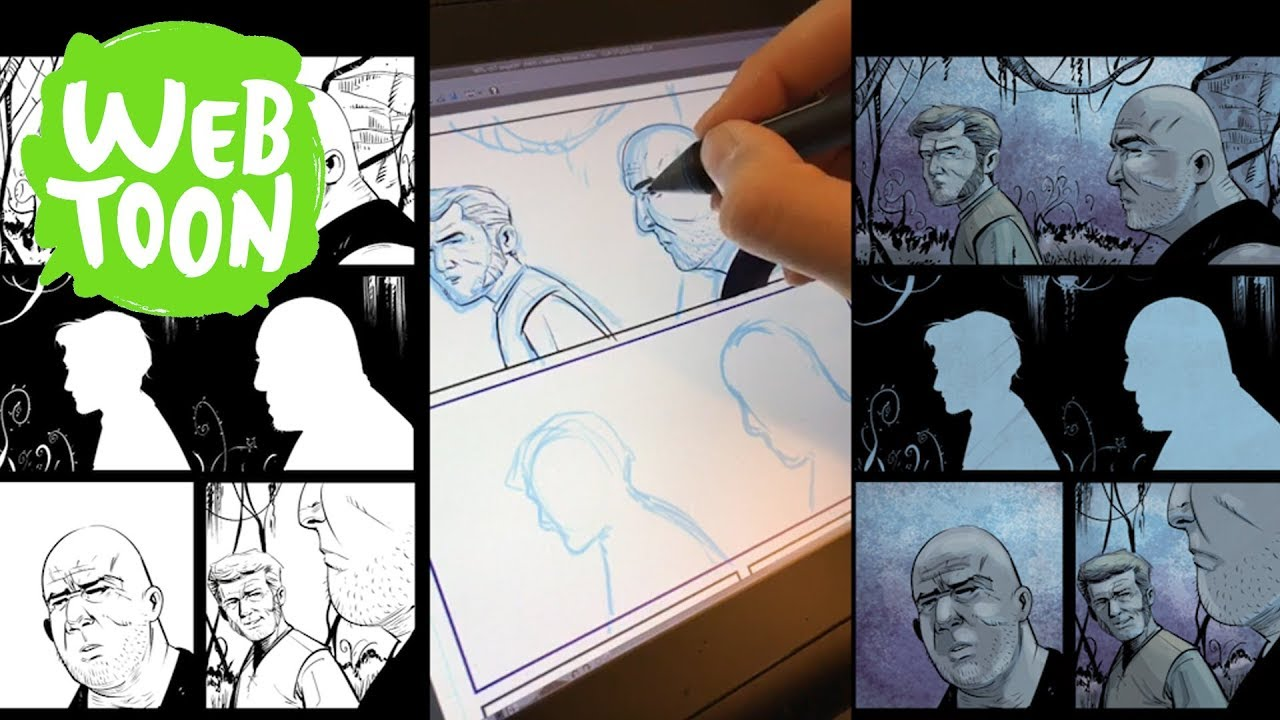 Drawing Process (Time Lapse) for a WEBTOON comic