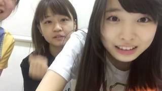 Shimada with her kouhai.