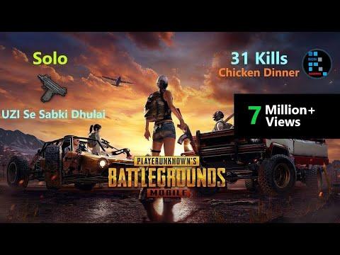 [Hindi] PUBG Mobile | Solo 31 Kills Original Power Of UZI