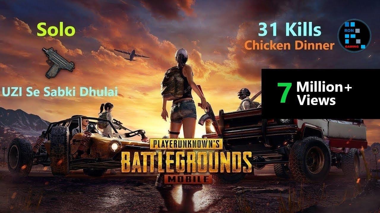 Hindi Pubg Mobile Solo 31 Kills Original Power Of Uzi