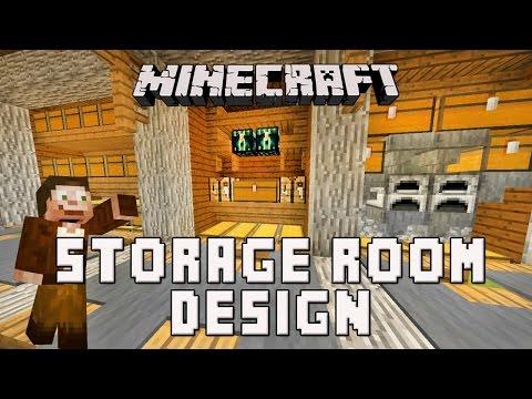 Minecraft: Survival Base Storage Room Design  (Scarland Base Build Ep.7)