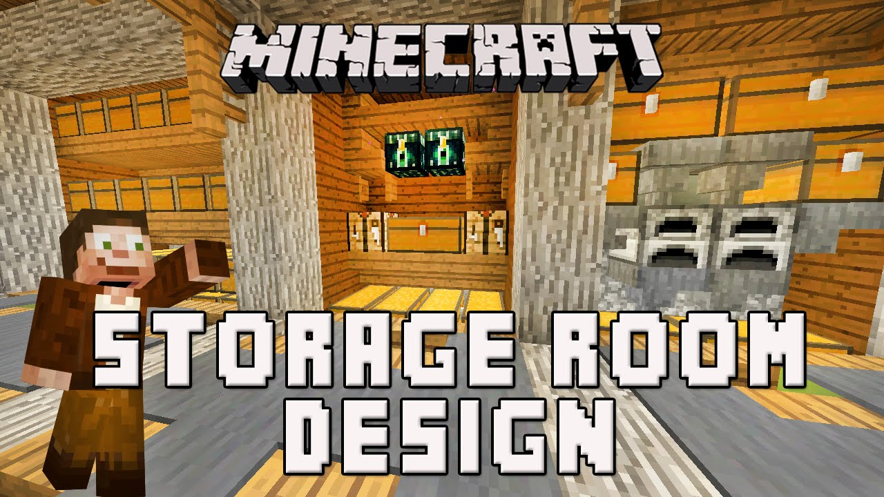 Minecraft survival base storage room design scarland for Minecraft dining room designs