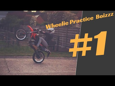WHEELIE PRACTICE #1 50CC SUPERMOTO- Derbi Senda DRD Black Edition 2003