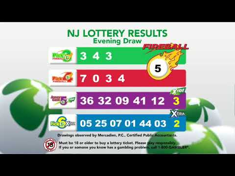 Nj lottery pick 3 results evening