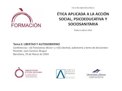C.E. Ética Aplicada 2014 (2): Conferencia Joan Canimas Brugué (Barcelona 29/03/2014)