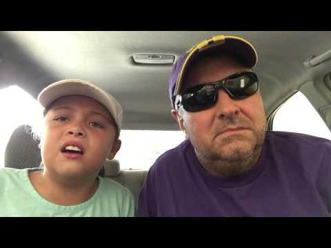 Kailiuni Bowles and grandad Jay Repass singing cover of