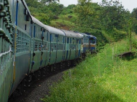 Konkan Kanya Express Full Journey : Khed To Kankavali : Monsoon Konkan Railways
