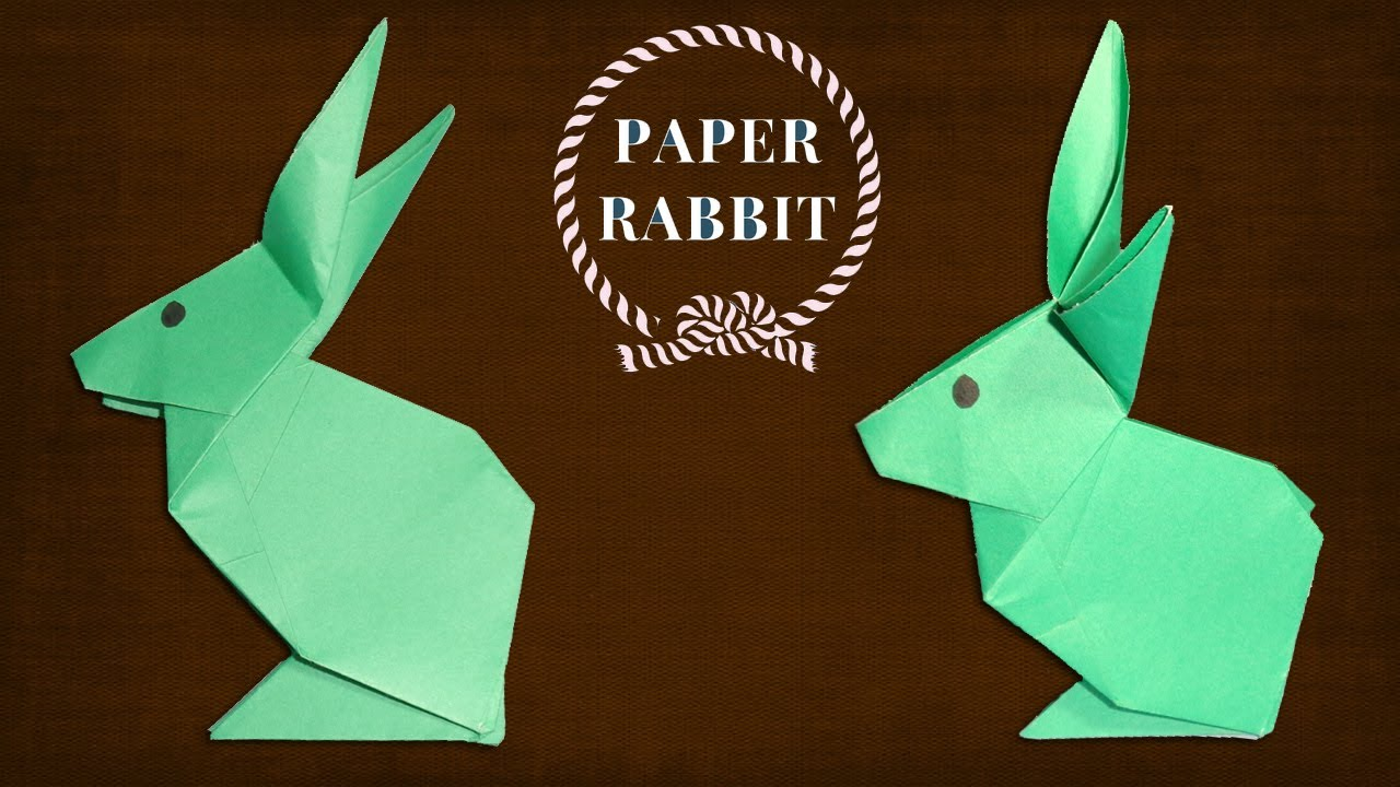 how to make rabbit from paper