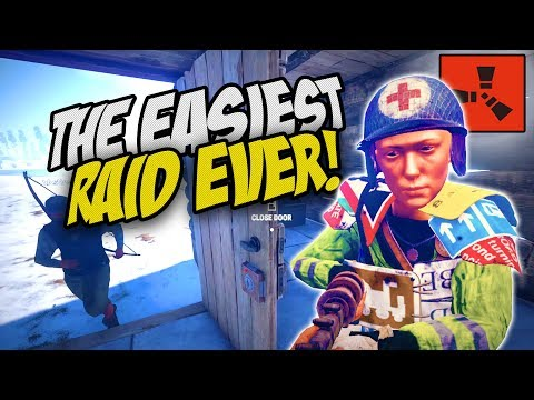 CLEARING THE AREA WITH EASY RAIDS! - Rust Co-op Survival Gameplay