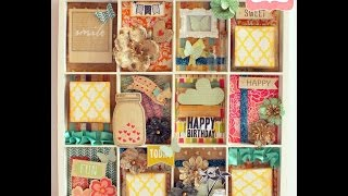 Tutorial - Altered 7 Gypsies Printers Tray By Mallika