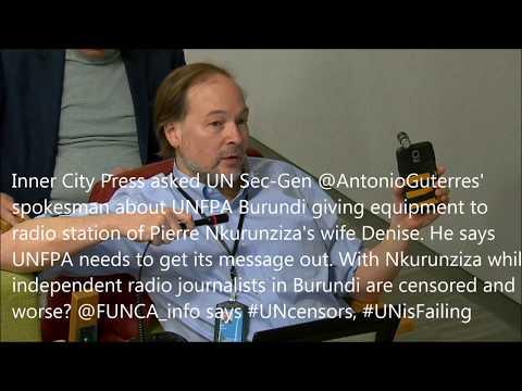 In Burundi, ICP Asks Why UNFPA Props Up Gov Radio of Nkurunziza's Wife, DSG Silent