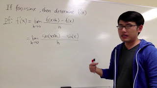 calculus derivative of sin x by using the definition of derivative