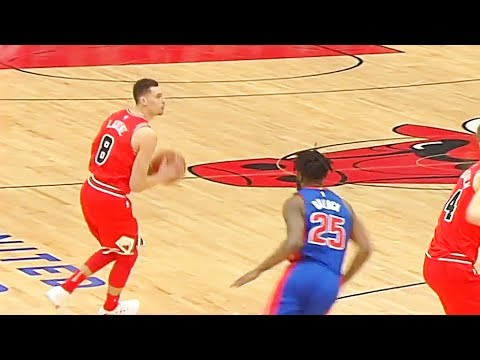 Zach LaVine Returns from Injury in Bulls Debut - Shoots First Shot in over a Year! Bulls vs Pistons