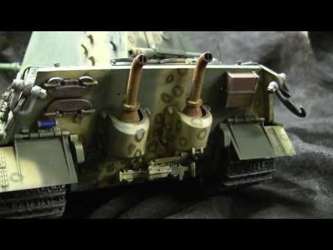 Tamiya Vintage RC 1/16th Scale King Tiger Tank Model Showcase Video