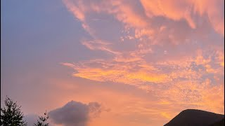 4K Korea Clip - Beautiful sunset, Burning Clouds🌤 and Birdsong🐦 in Taebaek, Gangwon-do (Jul.2021)