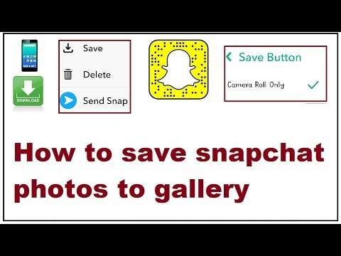 How To Save Snapchat Photos To Gallery