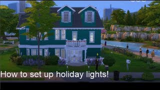 The Sims 4 How to Set Up Holiday Lights