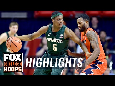 Michigan State vs Illinois | Highlights | FOX COLLEGE HOOPS