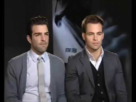 The Press Association, London Zachary Quinto and Chris Pine 20 April 09