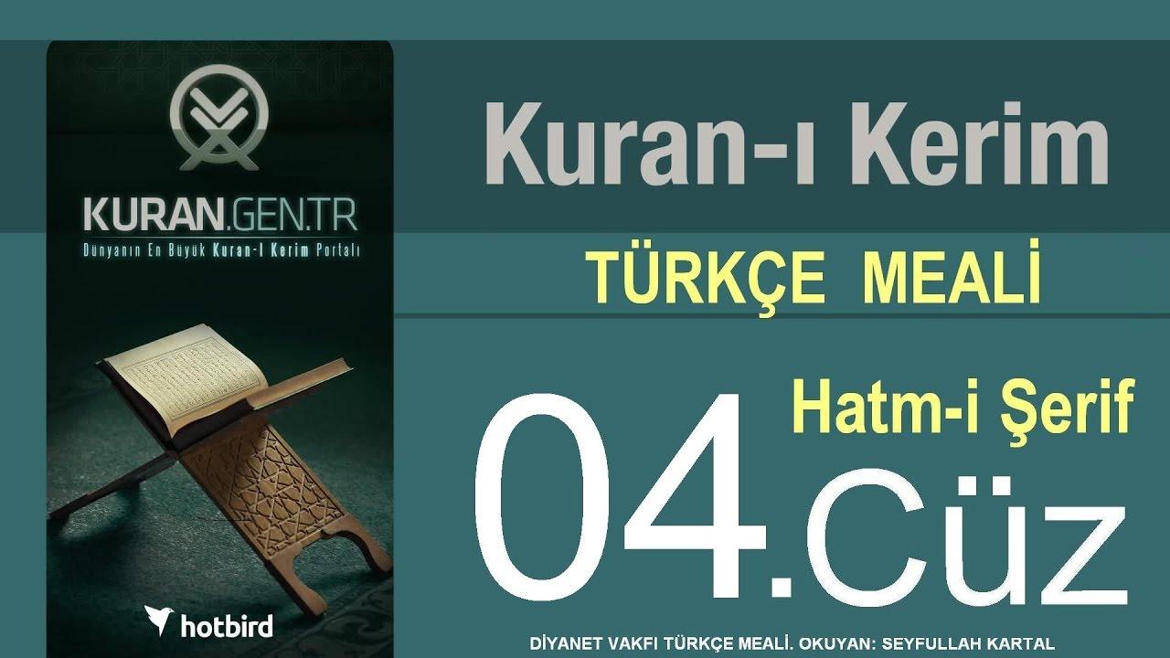 Türkçe Kurani Kerim Meali, 04 Cüz, Diyanet işleri vakfı meali, Hatim, Kuran.gen.tr