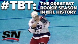 #TBT: The greatest rookie season in NHL history