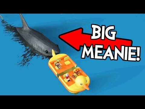 CHAD'S A BIG MEAN 🦈 SHARK IN ROBLOX SHARK BITE!