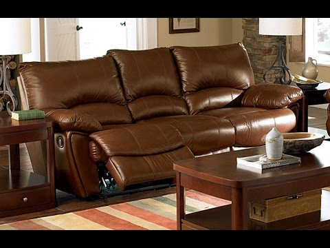 Leather Reclining Sofa with Fold Down Console & Leather Reclining Sofa with Fold Down Console - YouTube islam-shia.org