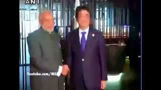 Indian Flag upside down at Modi-Abe meet live!