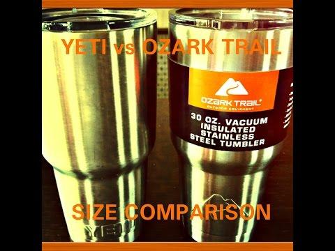 30oz Tumbler Yeti vs Ozark Trail Comparison