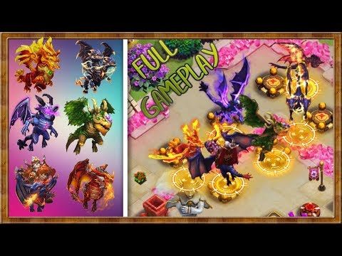 THE DRAGON TEAM | Full Gameplay | HBM - DUNGEONS - LR Etc | CASTLE CLASH