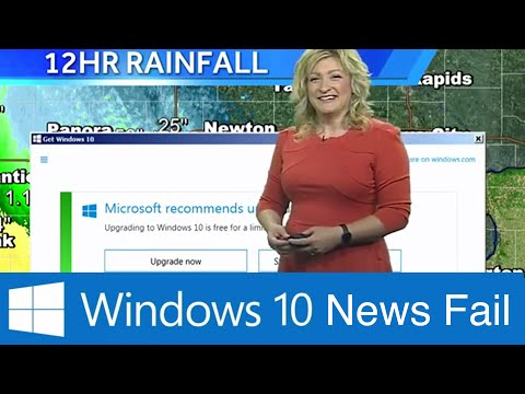 Funny News Blooper MICROSOFT WINDOWS 10 Update Interrupts Weather