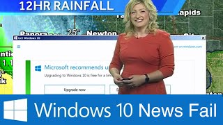 Microsoft Windows 10 Update Interrupts Weather