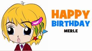 HAPPY BIRTHDAY MERLE!