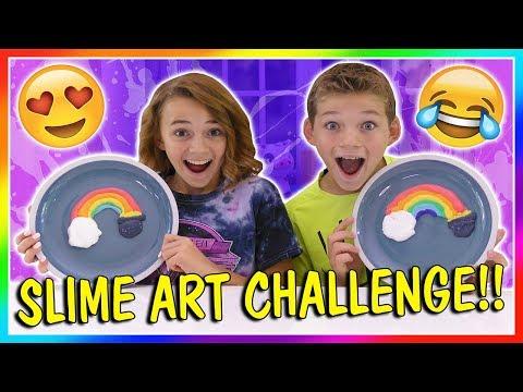 SLIME ART CHALLENGE! | We Are The Davises