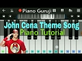 WWE John Cena Theme Song Piano Lessons/Tutorial | Slow Version - Mobile Perfect Piano Notes