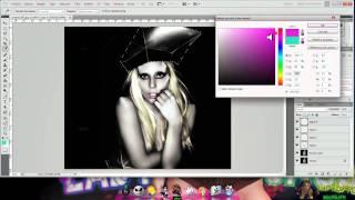Photoshop Coloreando ( Lady Gaga ) ^^