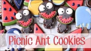 How to Make Decorated Picnic Ant Sugar Cookies