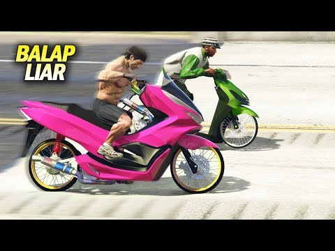 Maut!! GTA5 Drag Liar Mio Vs Honda PCX