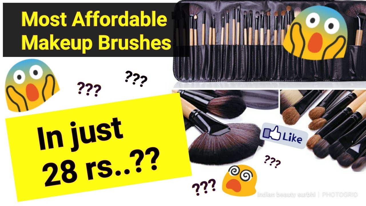 Makeup Brushes in Just 28 rs ??? || CHEAPEST & BEST Makeup Brushes in India || Indian Beauty Surbhi