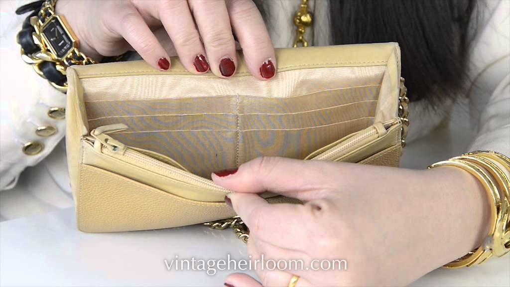 3a32ce55f6f915 How to spot a fake Chanel caviar wallet - YouTube