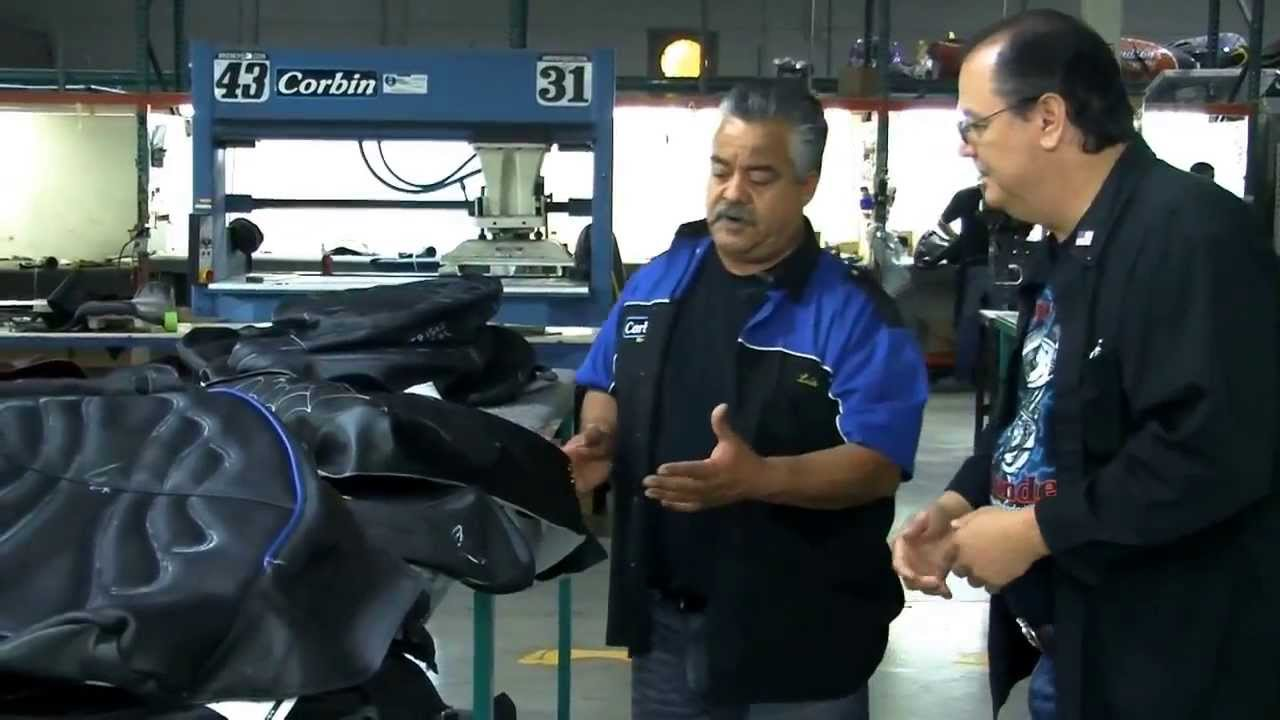 Two Wheel Thunder TV shows the making of a Corbin Seat from Start to Finish  Part 2