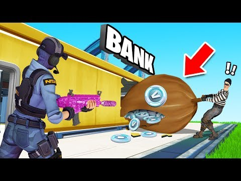 ROBBING The Bank VAULT Roleplay (Fortnite Cops vs Robbers)
